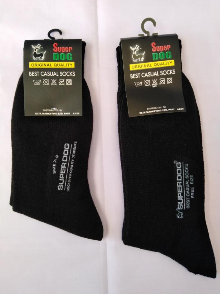 ถุงเท้าซุปเปอร์ดอกไหมพรมสีดำ เบอร์ 9-12